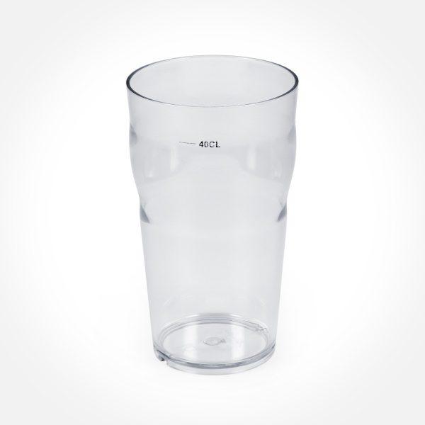 Plastglas. Ölglas utan fot 40 cl